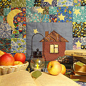 Для дома и интерьера handmade. Livemaster - original item Patchwork blanket-plaid the universe outside the window. Handmade.