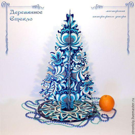 `Морозное утро` интерьерная декоративная елка - украшение