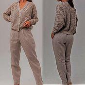 Одежда handmade. Livemaster - original item 100%linen openwork jacket