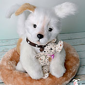 Подарки к праздникам handmade. Livemaster - original item Light dog Teddy with friend. Handmade.