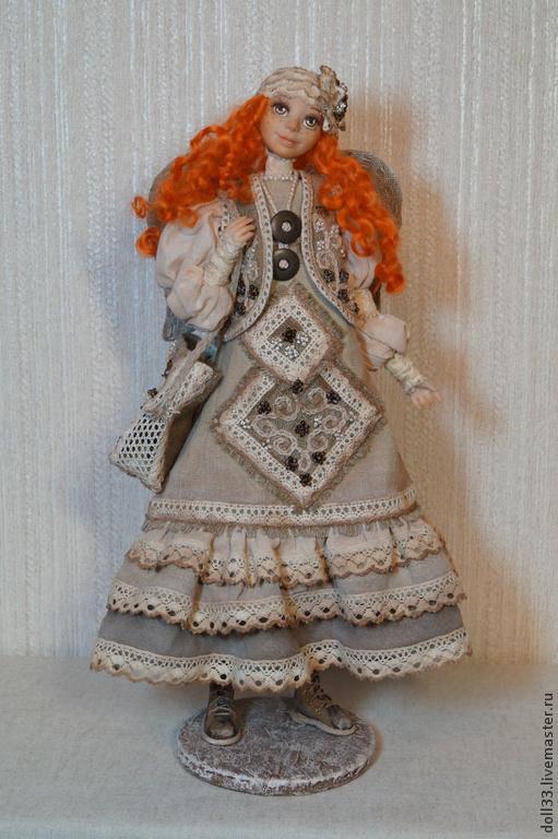 Коллекционные куклы ручной работы. Ярмарка Мастеров - ручная работа. Купить Леся. Handmade. Авторская ручная работа, девушка