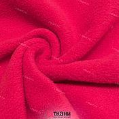 """Ткани ручной работы. Ярмарка Мастеров - ручная работа FL01-200 Флис двухсторонний начёс. Цвет """"красный"""". Handmade."""