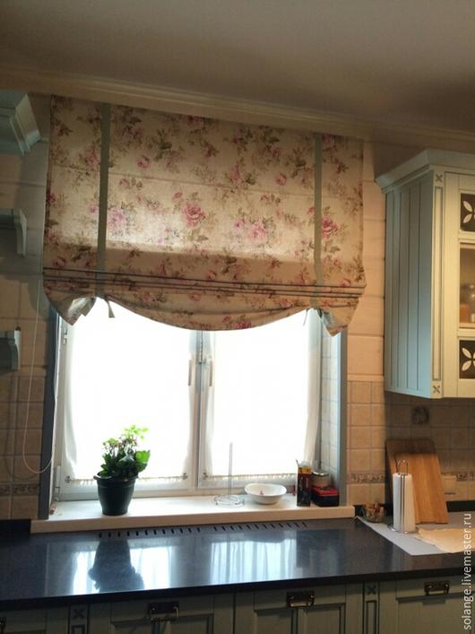 Текстиль, ковры ручной работы. Ярмарка Мастеров - ручная работа. Купить Римские шторы для  №26. Handmade. Разноцветный
