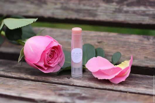 """Бальзам для губ ручной работы. Ярмарка Мастеров - ручная работа. Купить Увлажняющий бальзам для губ """"Нежный розовый"""". Handmade. Белый"""