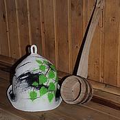 """Для дома и интерьера ручной работы. Ярмарка Мастеров - ручная работа Шапка банная """"Березка"""". Handmade."""