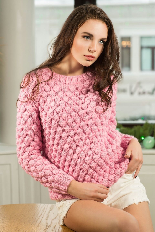 вязаный свитер фото женский
