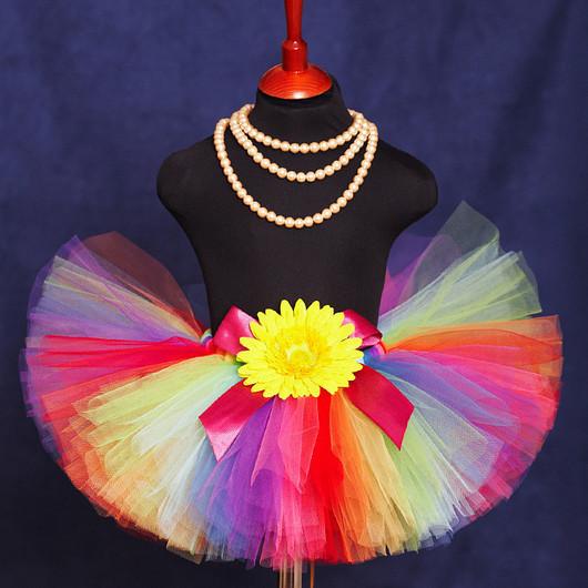 """Одежда для девочек, ручной работы. Ярмарка Мастеров - ручная работа. Купить """"Веселая радуга"""" пышная юбка-пачка из фатина. Handmade."""