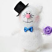 Мягкие игрушки ручной работы. Ярмарка Мастеров - ручная работа Кот котик игрушка вязаные коты ручной работы подарок котенок. Handmade.