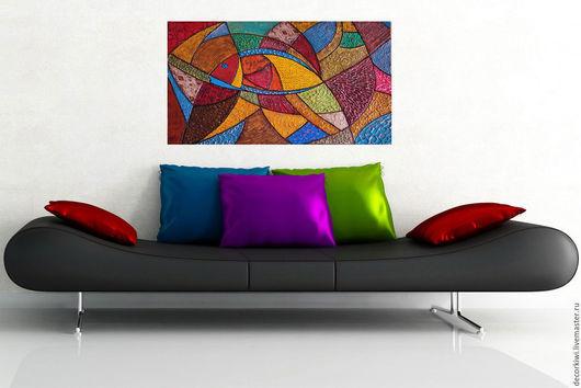 Декоративная картина для современного интерьера в стиле лофт, минимализм,хай-тек.DECORKIWI.