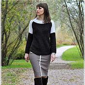 """Одежда ручной работы. Ярмарка Мастеров - ручная работа Классический  свитерок  """"Есть в осени первоначальной....."""". Handmade."""