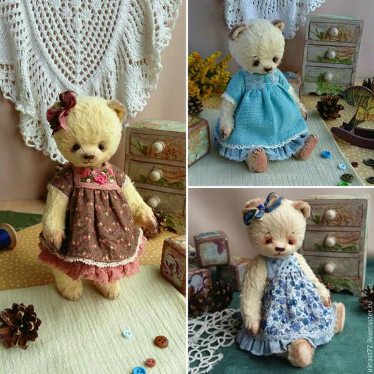Куклы и игрушки ручной работы. Ярмарка Мастеров - ручная работа. Купить Выкройка мишки-девочки. Handmade. Чёрно-белый, выкройка