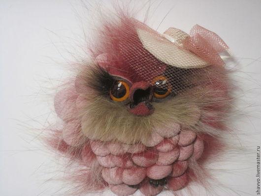 Кулоны, подвески ручной работы. Ярмарка Мастеров - ручная работа. Купить Совенок Леди в розовом. Handmade. Розовый, совенок