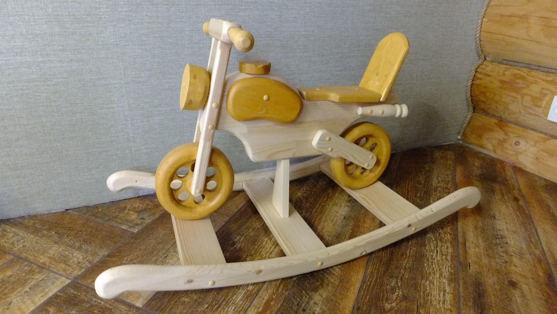 Деревянный Мотоцикл качалка для маленького рокера, Игрушки-каталки, Санкт-Петербург,  Фото №1