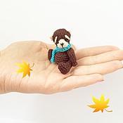 Куклы и игрушки ручной работы. Ярмарка Мастеров - ручная работа Мини мишка Амигуруми. Handmade.