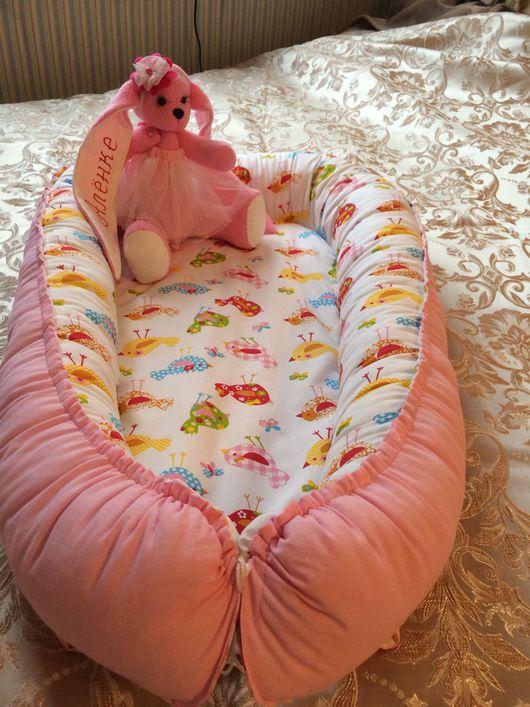 Для новорожденных, ручной работы. Ярмарка Мастеров - ручная работа. Купить Кокон гнездышко babynest. Handmade. Кокон, хлопок 100%