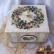Для дома и интерьера ручной работы. Ярмарка Мастеров - ручная работа Короб для сладостей. Handmade.
