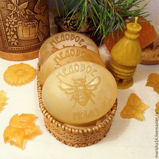 Мыло ручной работы. Ярмарка Мастеров - ручная работа. Купить Медовое мыло с прополисом. Handmade. Разноцветный, мыло с медом, мёд