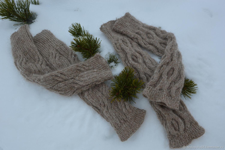 Leggings down 'Autumn fantasy' women's knitted, Leg warmers, Urjupinsk,  Фото №1