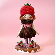 Куклы и игрушки ручной работы. Ярмарка Мастеров - ручная работа Клубника в шоколаде. Handmade.