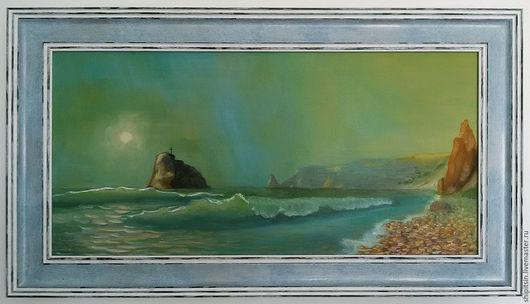 Пейзаж ручной работы. Ярмарка Мастеров - ручная работа. Купить Севастополь, Фиолент, яшмовый пляж. Handmade. Морская волна, море