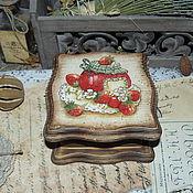 """Для дома и интерьера ручной работы. Ярмарка Мастеров - ручная работа """"Strawberry jam"""" - шкатулочка. Handmade."""