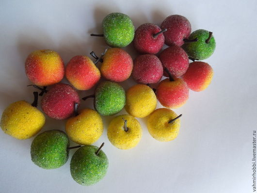 Другие виды рукоделия ручной работы. Ярмарка Мастеров - ручная работа. Купить Яблоки в сахаре 3 см. Handmade. яблоко