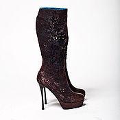 Обувь ручной работы handmade. Livemaster - original item boots: Boots milled