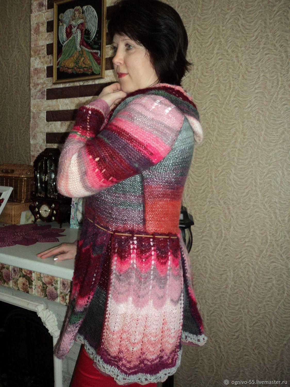 Cardigan 'Elegance'hooded, Cardigans, Astrakhan,  Фото №1