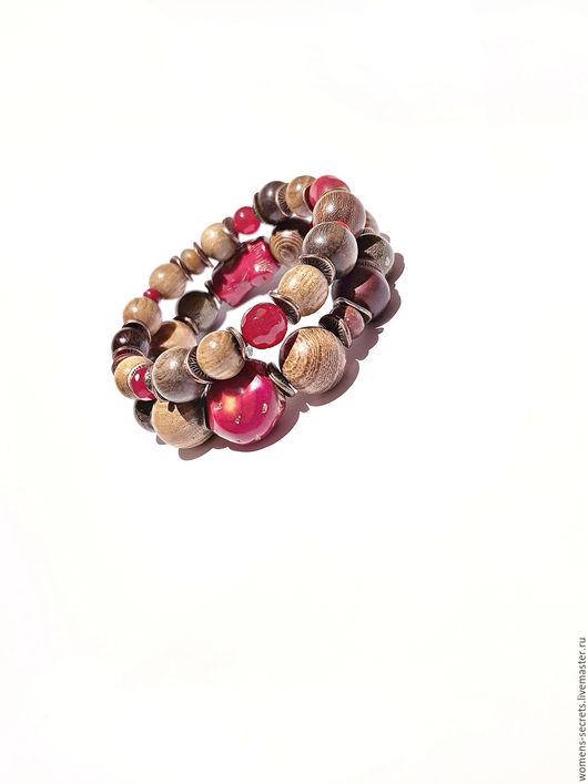 Браслеты ручной работы. Ярмарка Мастеров - ручная работа. Купить Браслеты сандал, пейзажная яшма, нефрит, коралл. Handmade. Браслет