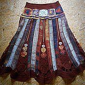 """Одежда ручной работы. Ярмарка Мастеров - ручная работа Юбка вязаная  """"Этно стиль"""". Handmade."""