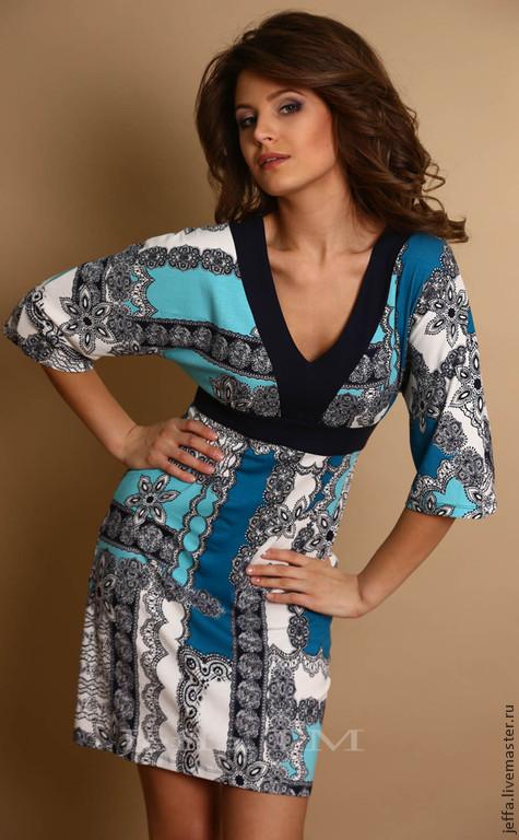 Платья ручной работы. Ярмарка Мастеров - ручная работа. Купить рр.50,52 Платье Ребекка арт.5305. Handmade.