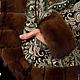 Верхняя одежда ручной работы. Куртка из павловопосадского платка Морозко с норкой орех. Юшкова Алеся Олеговна. Ярмарка Мастеров.