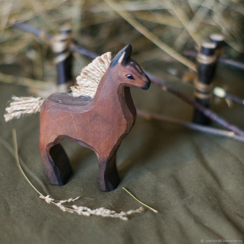 Конь, Вальдорфские куклы и звери, Суоярви,  Фото №1