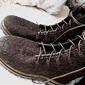 Обувь ручной работы. Ярмарка Мастеров - ручная работа Ботинки - Валенки для папы. Handmade.