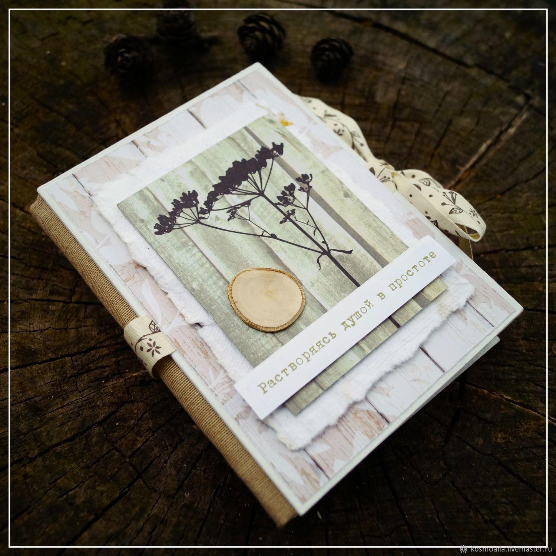 """Фотоальбомы ручной работы. Ярмарка Мастеров - ручная работа. Купить Мини-альбом """"Растворяясь в простоте"""". Handmade. Скрапбукинг, оливковый"""