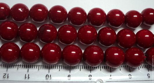 Для украшений ручной работы. Ярмарка Мастеров - ручная работа. Купить Красный коралл натуральный 10 мм гладкий шар бусины.. Handmade.