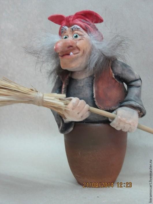 Статуэтки ручной работы. Ярмарка Мастеров - ручная работа. Купить Баба Яга. Handmade. Фигурка, фигурки из глины