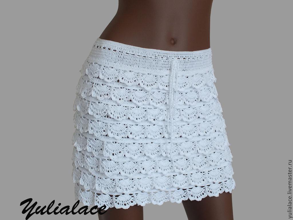 Вязаные юбки крючком цена