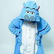 Субкультуры handmade. Livemaster - original item Costume kigurumi fleece Hippo MOTO MOTO (Madagascar). Handmade.