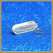 Сувениры и подарки handmade. Livemaster - original item A 64 GB USB flash drive with a personalized engraving. Handmade.
