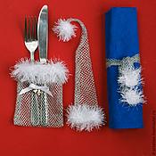 Подарки к праздникам ручной работы. Ярмарка Мастеров - ручная работа Комплект для новогодней сервировки стола 6+6+1. Handmade.