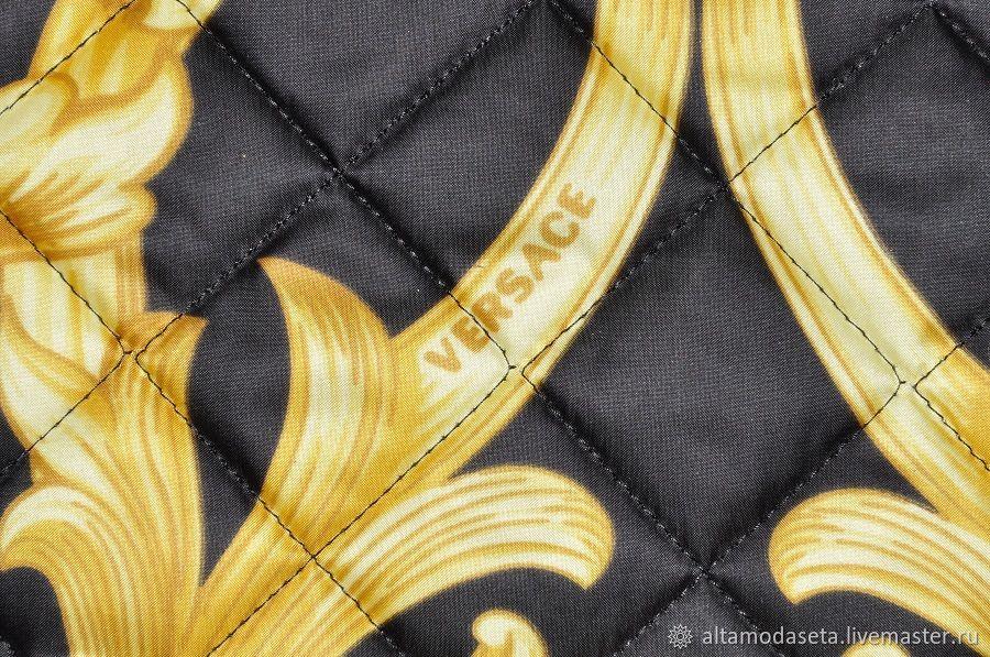 Ткань курточная подписная Versace из Италии, Ткани, Москва,  Фото №1