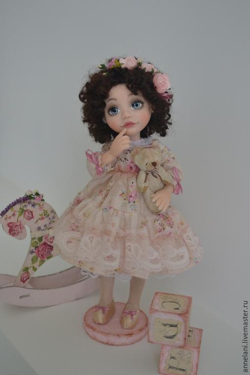 Коллекционные куклы ручной работы. Ярмарка Мастеров - ручная работа. Купить Наденька. Handmade. Бледно-розовый, лошадка, цветы, кружево