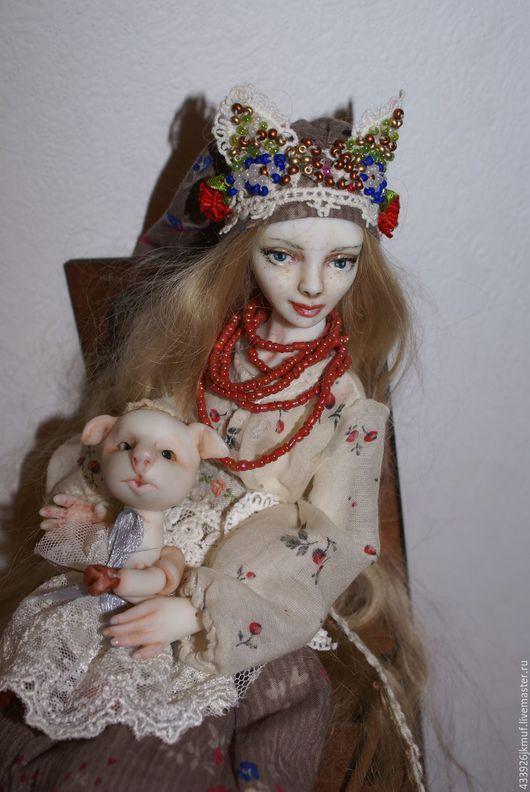 """Коллекционные куклы ручной работы. Ярмарка Мастеров - ручная работа. Купить шарнирная кукла """" Славянка"""". Handmade. Зеленый"""
