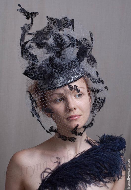 """Шляпы ручной работы. Ярмарка Мастеров - ручная работа. Купить Кружевная шляпка """"Тоник"""". Handmade. Шляпка, свадебная, театральная, шёлк"""