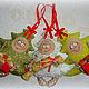 Человечки ручной работы. Заказать Елочка текстильная новогодняя, игрушка на елку, сувенир. ЛуКс:)) Кукольное счастье! (Ксения). Ярмарка Мастеров.