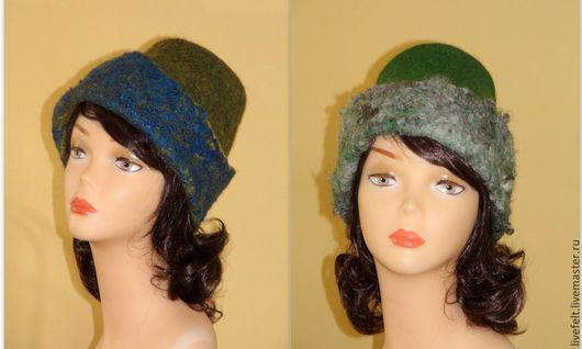 Шляпы ручной работы. Ярмарка Мастеров - ручная работа. Купить Шапка  валяная на выбор зелёная шерстяная зимняя шляпа. Handmade.