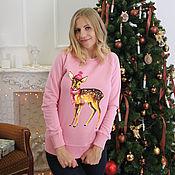 "Одежда handmade. Livemaster - original item sweatshirt women with the author print ""Panda"". Handmade."