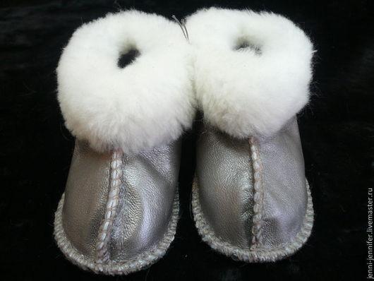 Обувь ручной работы. Ярмарка Мастеров - ручная работа. Купить Детская домашняя обувь из натуральных материалов. Handmade. Серебряный, для мальчика