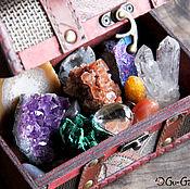 Подарки к праздникам ручной работы. Ярмарка Мастеров - ручная работа Сундук Сокровищ. Большой подарочный набор минералов.. Handmade.